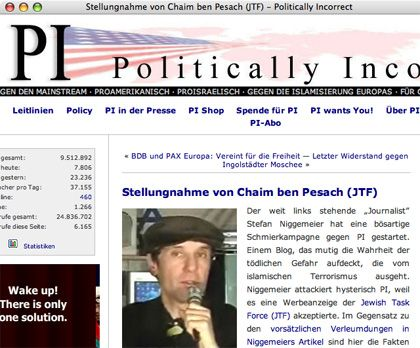 """""""Legale Organisation"""": Erklärung von Ben Pessach auf PI"""