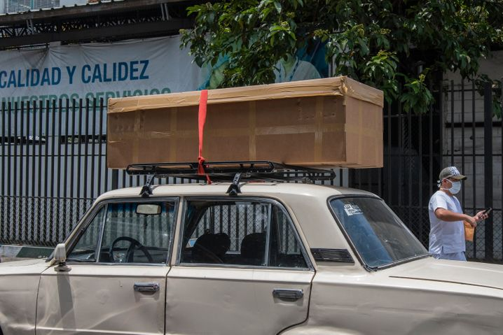 Transporting the bodies of coronavirus victims in Guayaquil, Ecuador