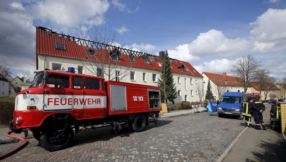 Tröglitz: Feuer in künftiger Flüchtlingsunterkunft