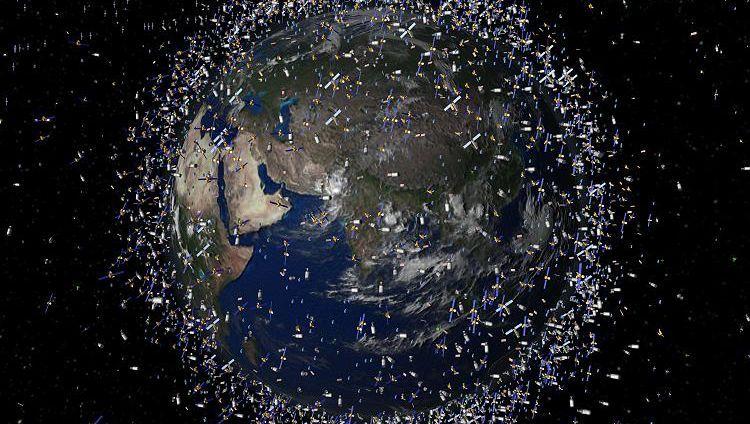 Weltraumschrott (Computergrafik): Bis zu 12.000 Objekte umkreisen die Erde