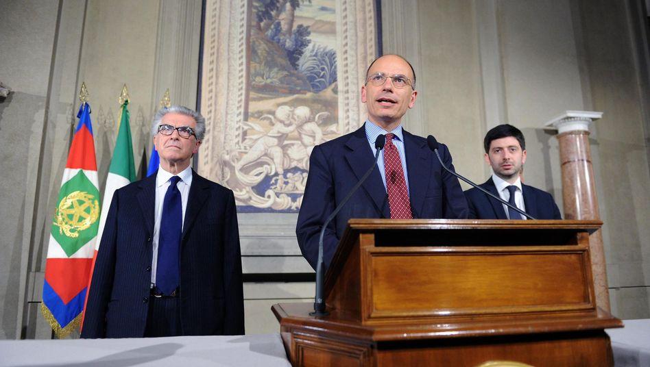 Ex-Minister Enrico Letta: Auftrag von Staatspräsident Napolitano