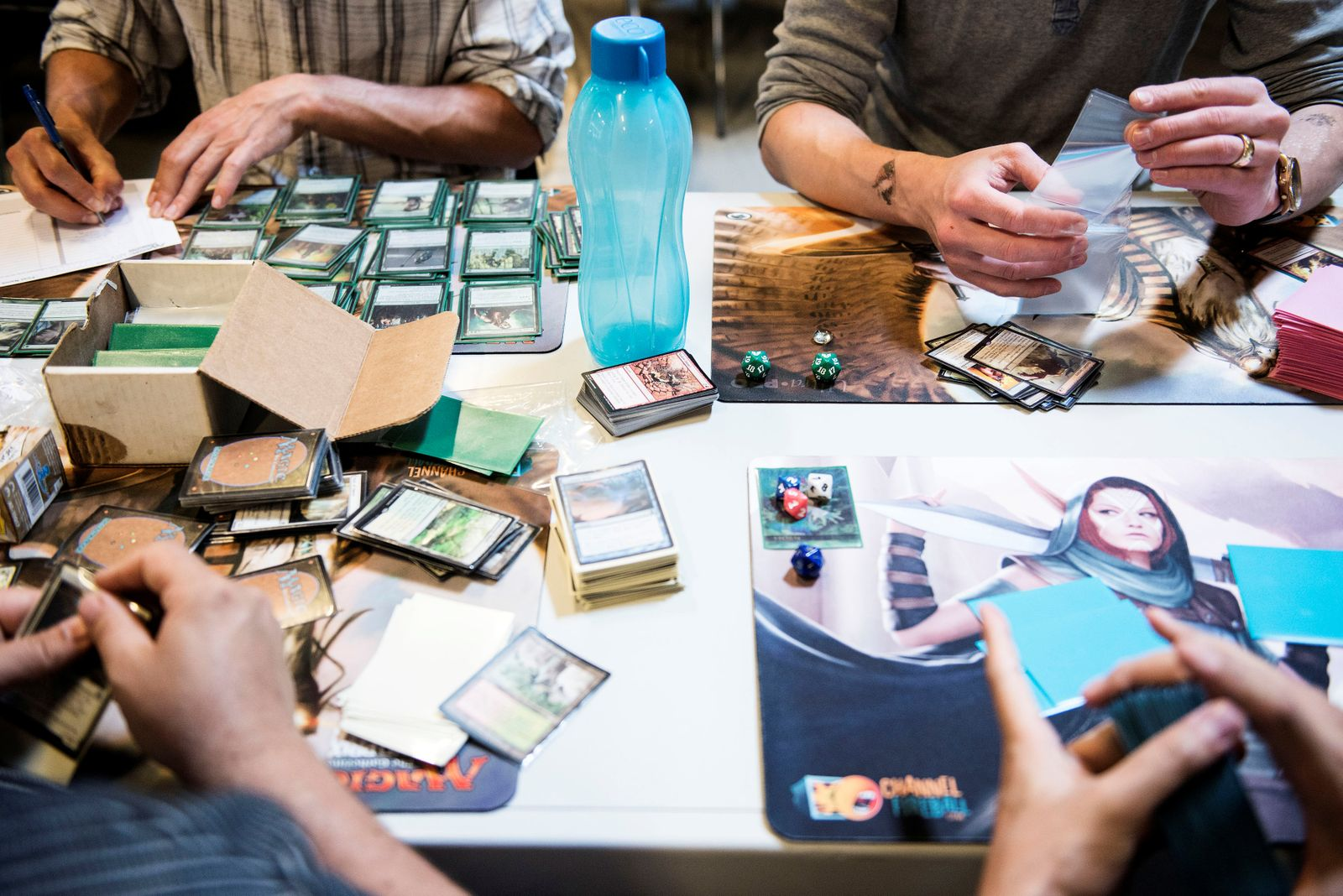Participants in this weekend's major Magic Card Tournament play at the game tables at the Bella Center in Copenhagen