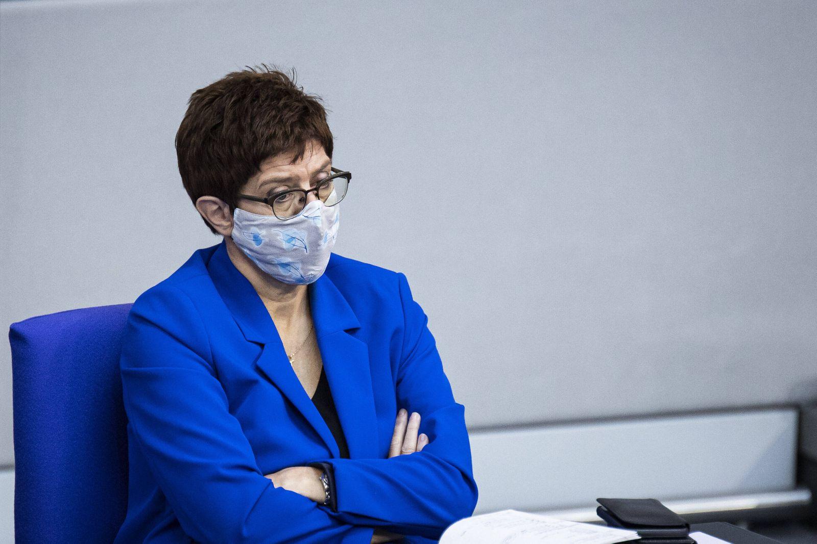 Annegret Kramp-Karrenbauer, Bundesministerin der Verteidigung und Parteivorsitzende der CDU, aufgenommen im Rahmen eine