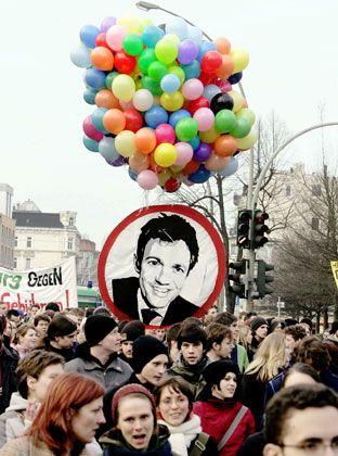Ungeliebter Reformer: Studenten protestieren gegen Drägers Hochschulpolitik