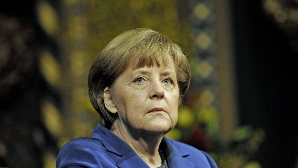 Angela Merkel (Archivbild): Harsche Kritik an Putin