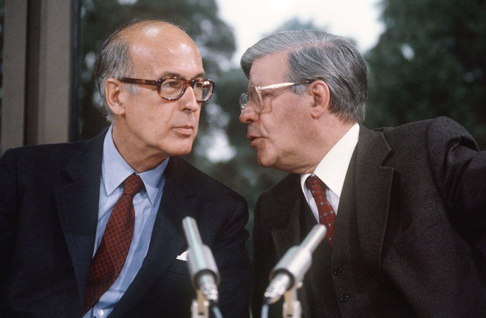 Helmut Schmidt und Valery Giscard dEstaing 1980