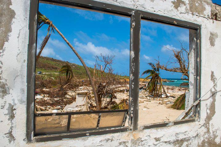 Hurrikanschäden auf der Karibikinsel Saint Martin