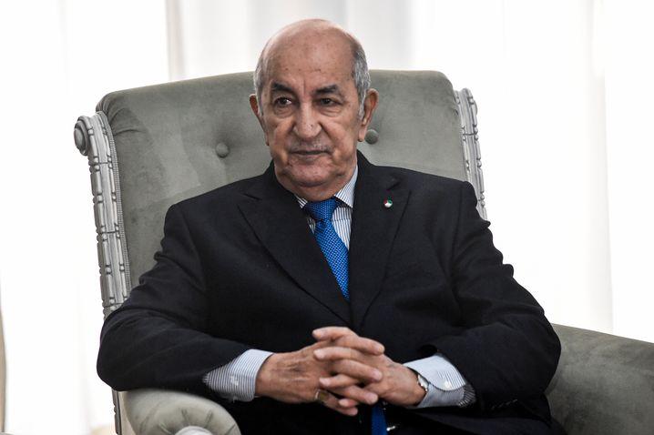 Algeriens Präsident Abdelmadjid Tebboune war aus medizinischen Gründen zuletzt mehrmals in Deutschland (Archivbild)