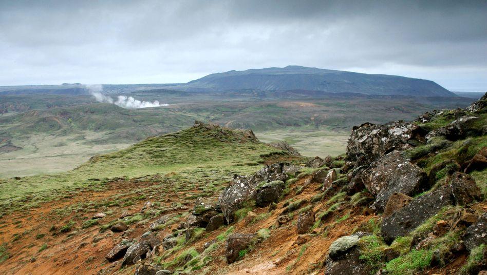 Gebiet um den Vulkan Krysuvik auf Island