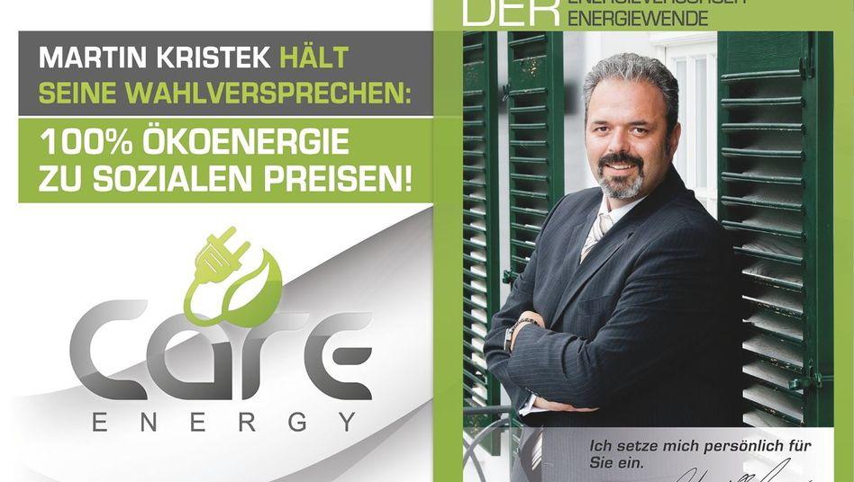 Martin Kristek auf einem Werbeplakat (Archiv)