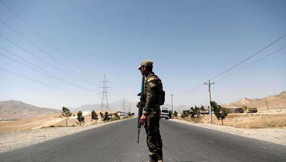 Afghanischer Soldat in der Provinz Ghazni(Archivbild)