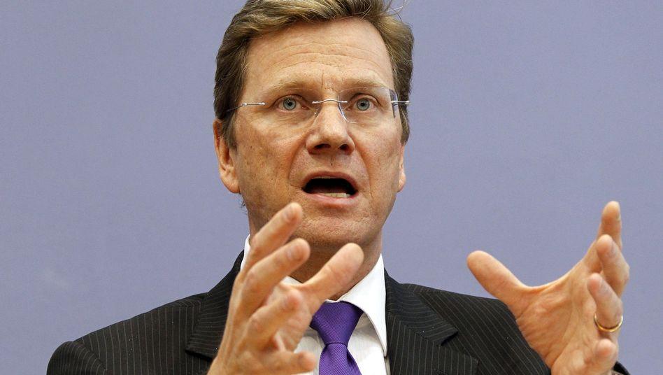 """Außenminister Westerwelle: """"Arbeit muss sich wieder lohnen"""""""
