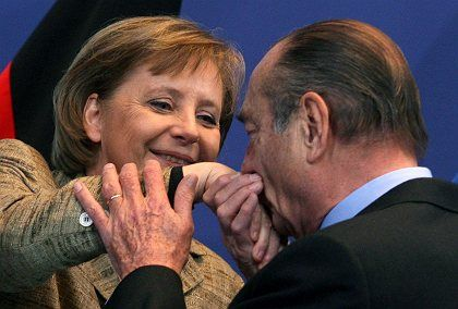 French President Jacques Chirac turned on the charm.