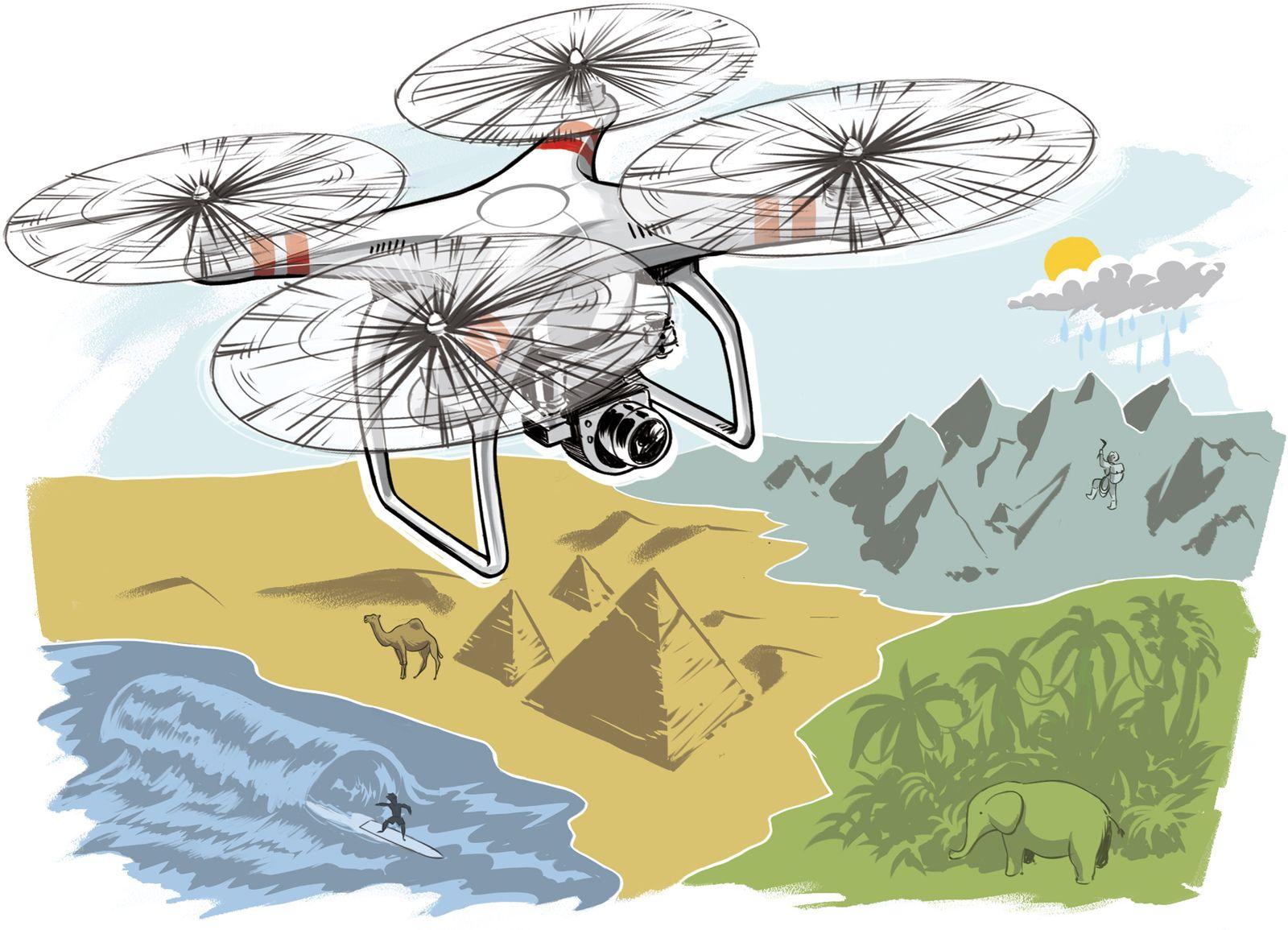EINMALIGE VERWENDUNG ct Koop/ Ab in den Urlaub/ Reisen mit Drohne