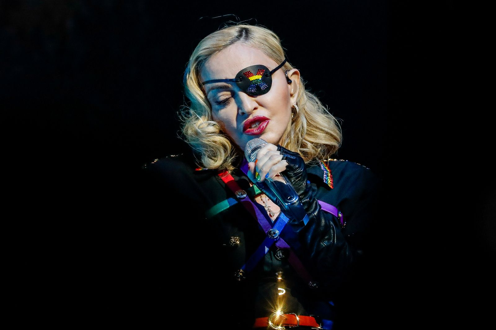 FILE PHOTO: Madonna performs at the 2019 Pride Island concert during New York City Pride in New York City