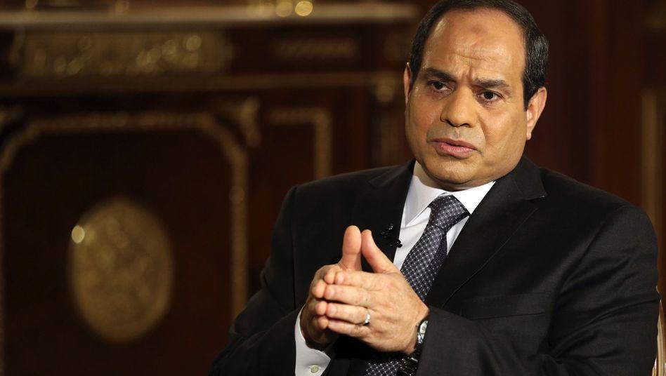 """Präsident Sisi: """"Bei Ihnen haben die Demonstranten keine Waffen gehortet"""""""