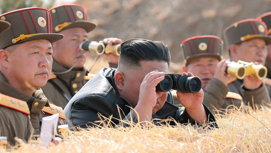 Nordkoreas Diktator Kim Jong Un (im März 2020): Entwicklung der Waffen heimlich intensiviert