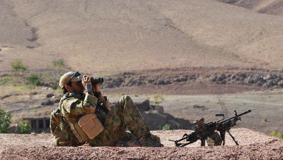 Ein australischer Elitesoldat bei einem Einsatz im Süden von Afghanistan (Archivbild von 2009)