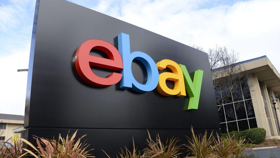 Ebay-Schriftzug (in San Jose): Online-Betrüger muss ins Gefängnis