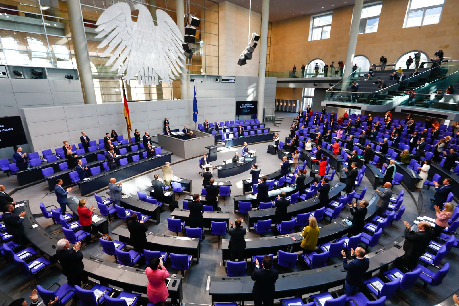 German parliament session on the outbreak of the coronavirus disease (COVID-19) in Berlin