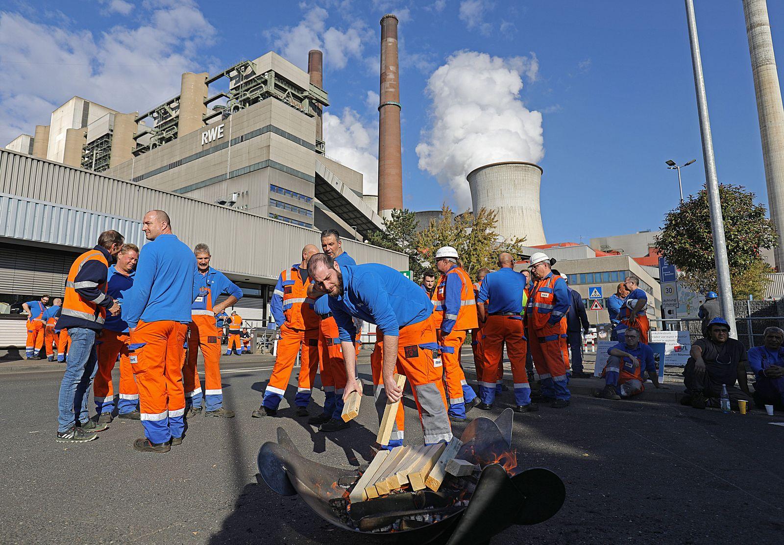Mahnwache von RWE-Mitarbeitern