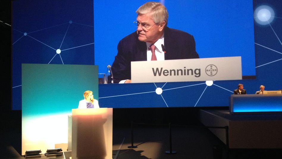 Bayer-Aufsichtsratchef Wenning: Kritik bitte nur auf Deutsch - und bloß nicht länger als geplant