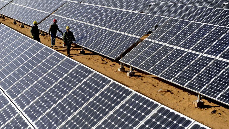 Solarzellen in China: Die Strafzölle sollen dem Vernehmen nach 47 Prozent betragen