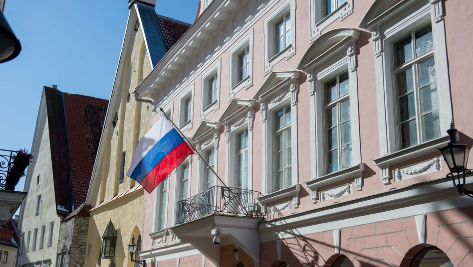 Russische Botschaft im estnischen Tallinn