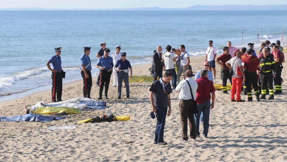 Strand von Catania: Gefährliche Überfahrt