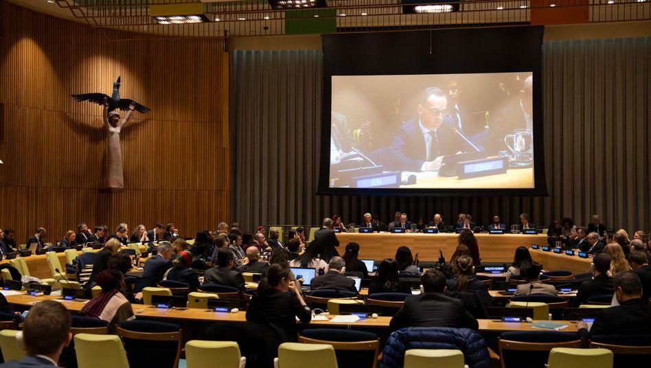Heiko Maas im Saal des Sicherheitsrates
