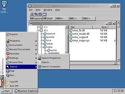 """Noch etwas """"hölzern"""", aber schon eine Windows-ähnliche grafische Benutzeroberfläche"""