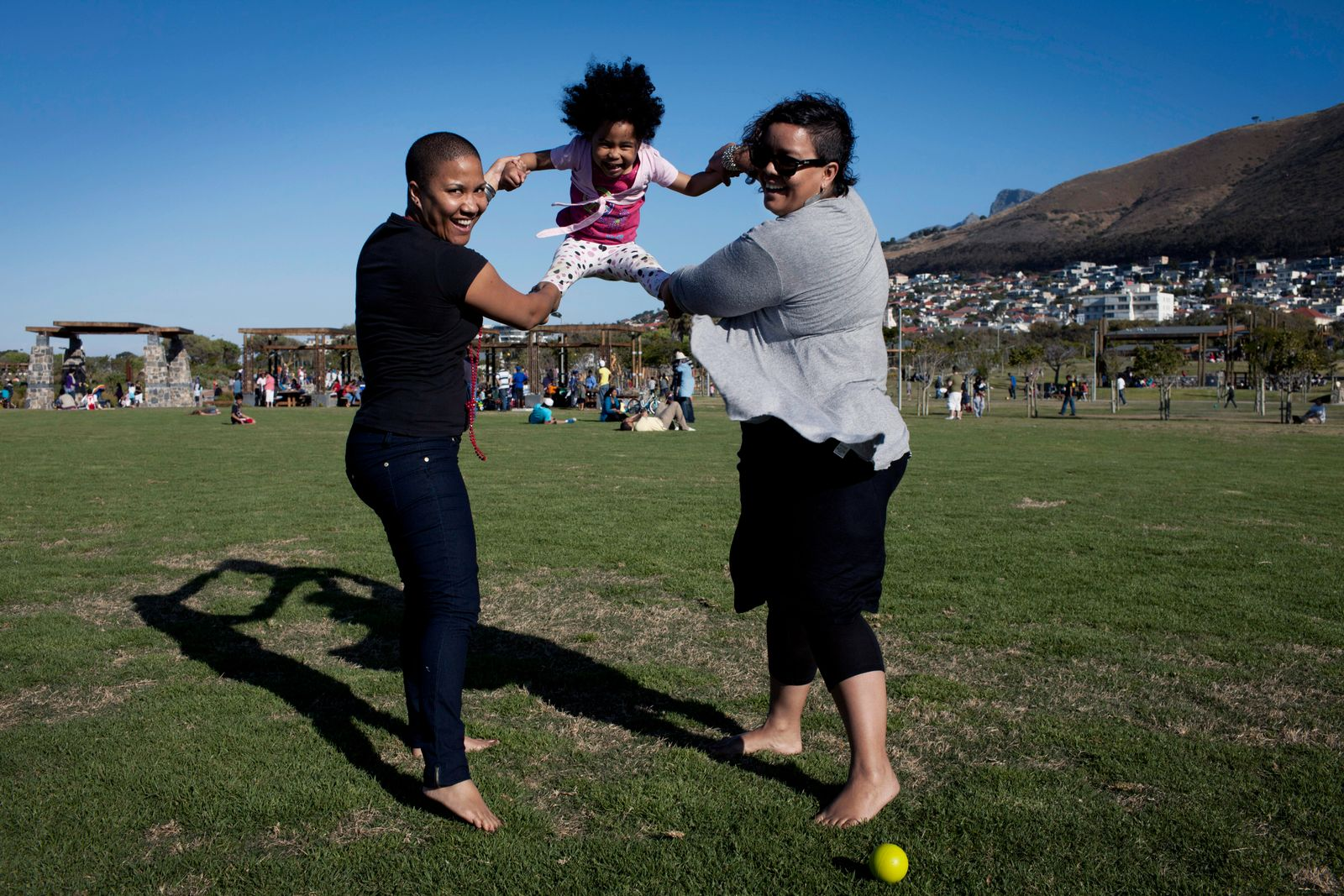 Lesbian couple with child in Cape Town, South Africa