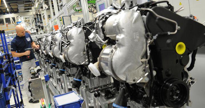 Dieselmotoren im Volkswagen-Werk