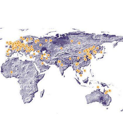Eine Karte aktiver Botnet-Rechner: Mit dem Active Threat Level Analysis System (ATLAS) gibt Arbor Networks Auskunft über aktuelle Botnet-Aktivitäten