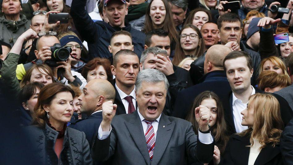 Petro Poroschenko im Wahlkampf