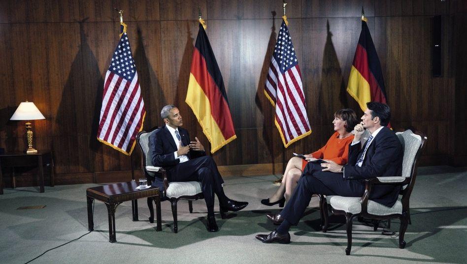 Präsident Obama im Gespräch mit ARD und SPIEGEL(*): »Ich hoffe, dass sich der neue Präsident mit der Realität auseinandersetzen wird«