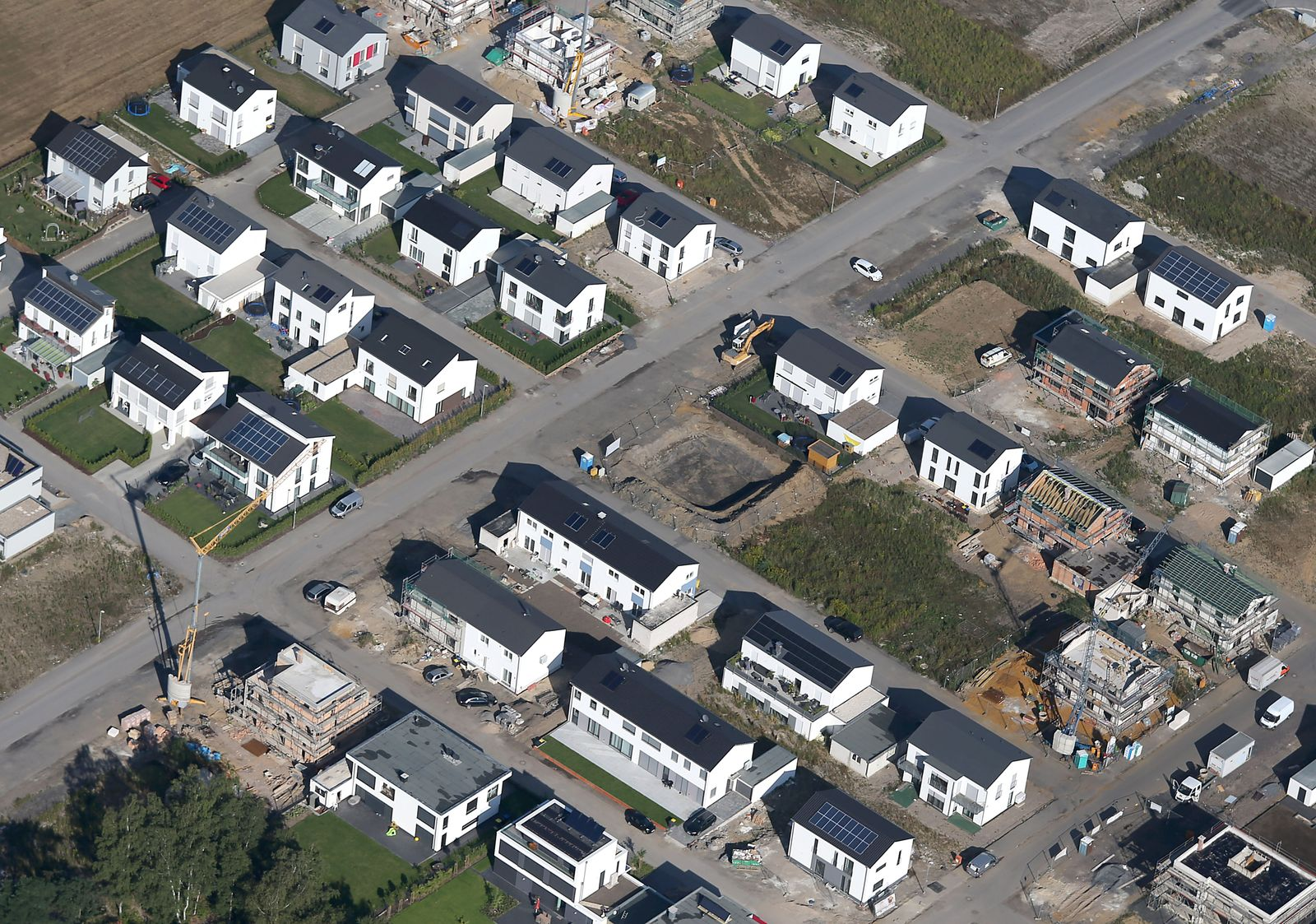 Immobilien/ Neubausiedlung/ Einfamilienhäuser