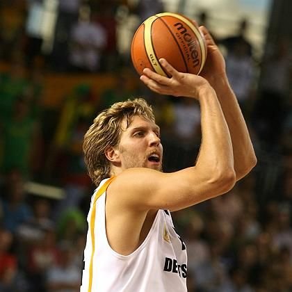 Nowitzki says he is still working on the perfect shot.