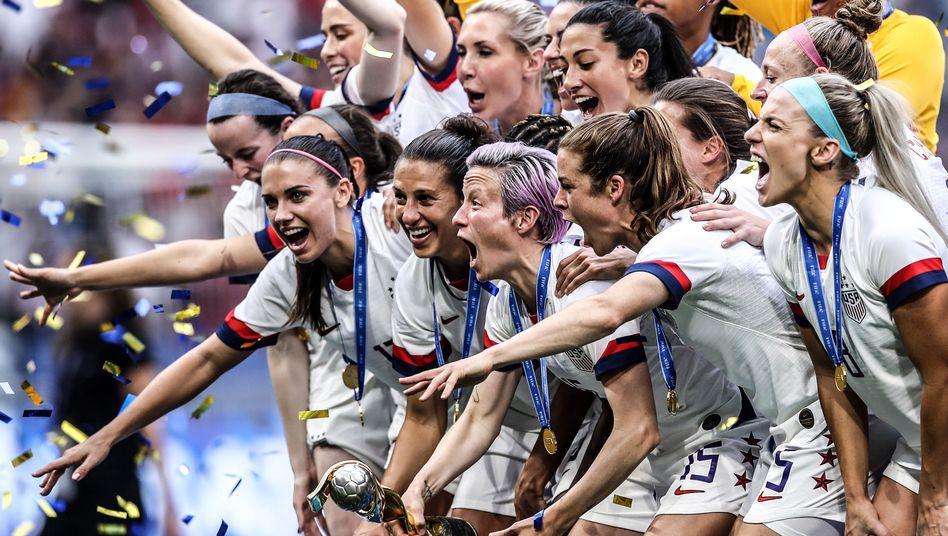"""Die US-Fußballerinnen nach ihrem WM-Sieg: """"Es war sehr schwierig, den Titel erneut zu gewinnen"""""""