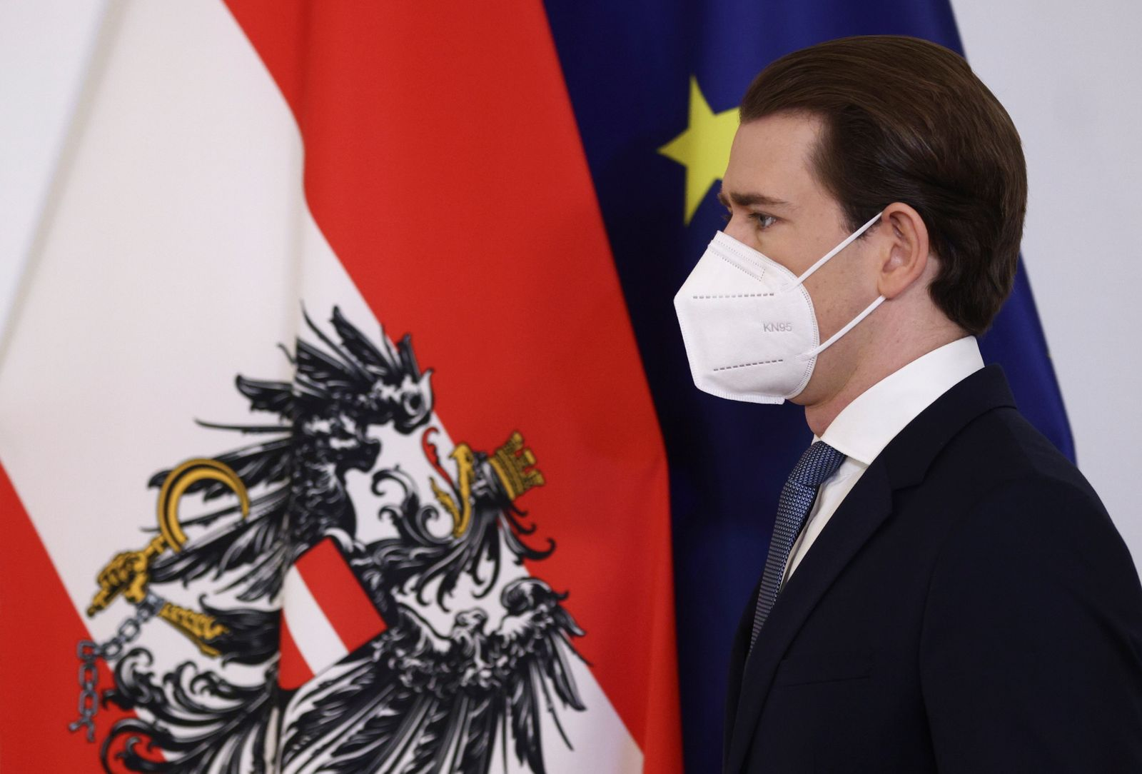 Austria's Chancellor Kurz holds a news conference about COVID-19 restrictions, in Vienna