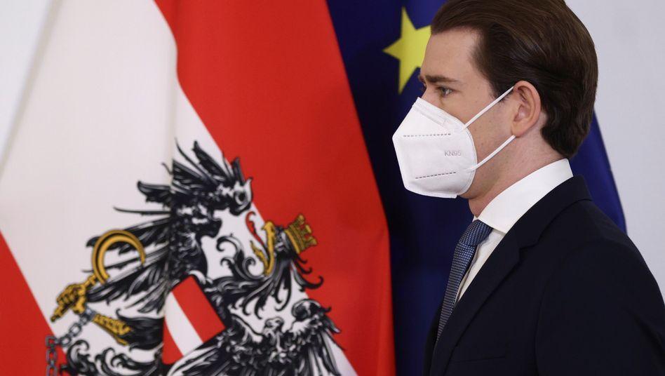 Österreichs Kanzler Sebastian Kurz: unter erhöhtem Druck