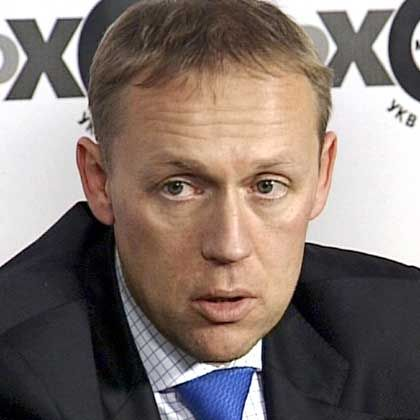 Russian businessman Andrei Lugovoi during an interview on Ekho Moskvy radio in Moscow, November 23.