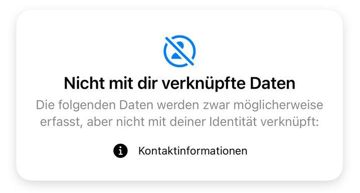 Datenschutzauskunft von Signal