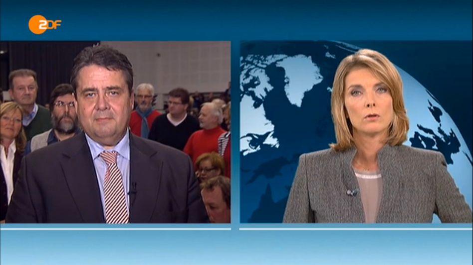 """Gabriel-Interview im """"heute-journal"""": Echt genervt"""
