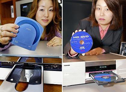 Duell: Sonys Blu-ray-Recorder (l) und Toshibas HD-DVD-Player (r)