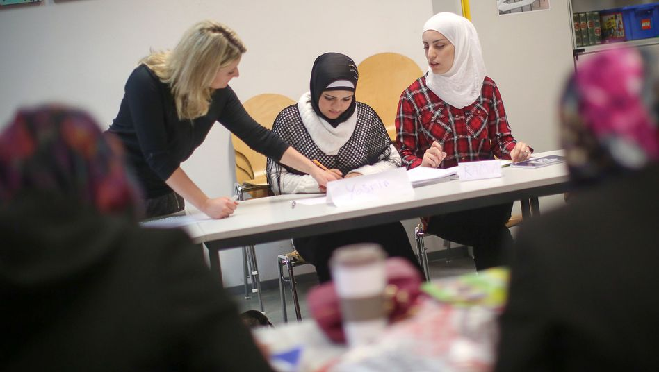 Flüchtlinge in Integrationskurs