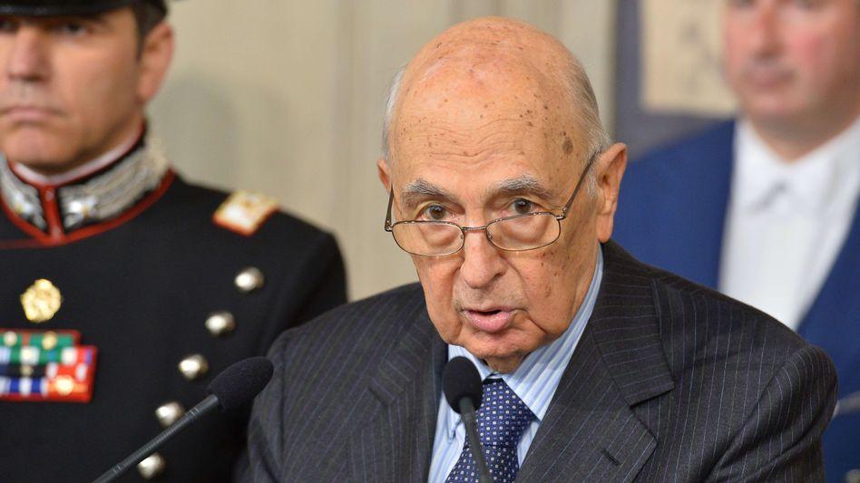 Im Amt bestätigt: Präsident Giorgio Napolitano