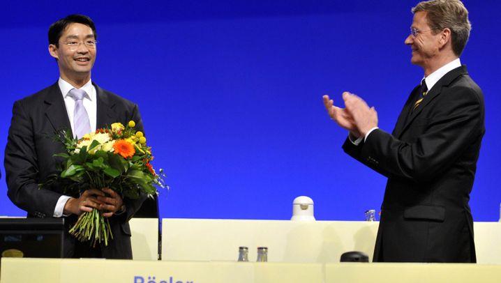 Eindrücke eines Parteitags: Westerwelle, FDP, ade
