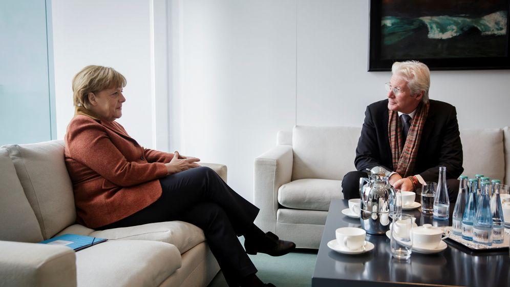 Richard Gere bei Bundeskanzlerin: Merkel und Hollywood