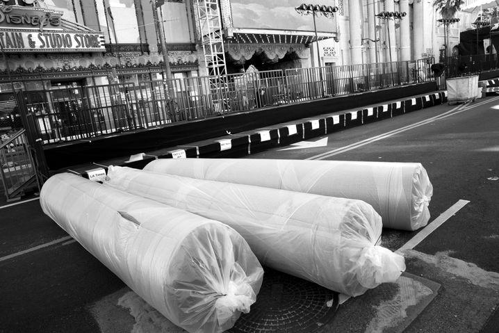 Eingerollte rote Teppiche in Los Angeles 2013: Das Ende der Kunst